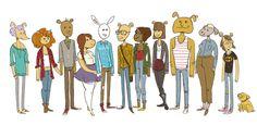 Eles cresceram! Personagens de desenhos animados desenhados como adultos | Arthur