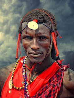 Africa |  Maasai photographed in Maasai Mara, Kenya |  © Mathilde Guillemot