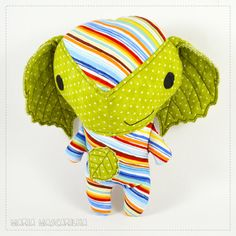 stuffed toy for children multicolor baby by MariaMascarilha