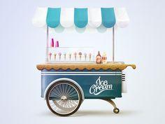 Ice cream cart by Tibor Tovt