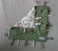Taggie blanket homemade
