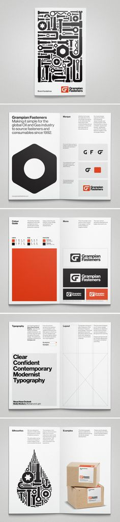 Grampian Fasteners Brand identity and guidelines. Designed at Stand