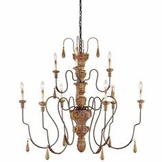 Currey & Co Mansion Chandelier, Medium | Candelabra, Inc.
