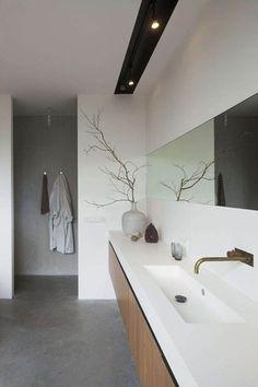 Iluminación en baño estilo Zen