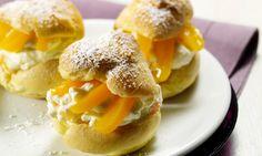 Aprikosen-Pudding-Windbeutel Rezept | Dr. Oetker