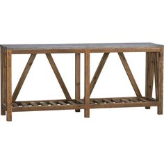 Bluestone Console Table, Crate and Barrel Accent Furniture, Diy Furniture, Rustic Furniture, Coffee Table Crate And Barrel, Coffee Tables, Dining Corner, Def Not, Cool Beds, Console Table
