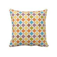 abstract retro throw pillow