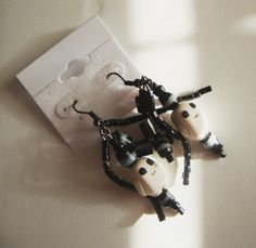 Doctor Who Inspired Adipose Dangle Beaded Earrings by NekoWorks, $16.99