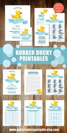 Rubber Duck Baby Shower Games for your baby shower!