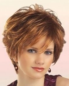 Fluffy Wavy Elegant Inclined Bang Synthetic Short Mixed Color Capless Women's Wig