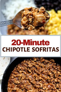 Easy, fast, and delicious 20-Minute Chipotle Sofritas Recipe made with firm tofu, homemade sofrito, adobo sauce, and cumin. Lot's of flavor, made from your kitchen. Pair this vegan sofritas dish with rice, as a salad, in a burrito, for a taco, or with your a favorite sides.
