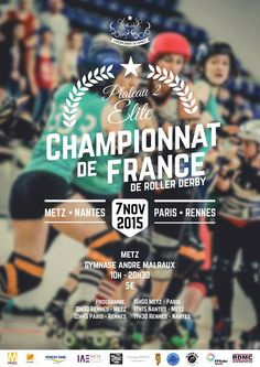 Roller derby – Championnat de France Féminin élite – Plateau 2 - Fédération Française de Roller Sports Roller Derby, Fitness Park, Flyers, Skateboard, France, Sports, Design, Art, Gym