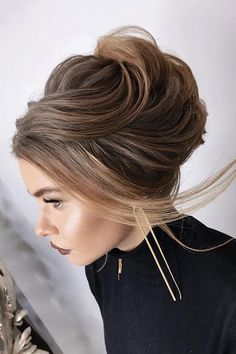 30 Perfect Bridal Hairstyles For Big Day Party ❤ bridal hairstyles soft look updo elstile ❤ See more: http://www.weddingforward.com/bridal-hairstyles/ #weddingforward #wedding #bride #bridalhairstyles