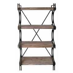 Found it at Wayfair.ca - Industrial Metal and Wood Etagere
