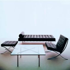 'Barcelona' Bauhaus coffee table BY L. M. Van der Rohe : Kenar Masa & Tablaları My Italian Living Dining Chairs For Sale, Tufted Dining Chairs, Patio Lounge Chairs, Furniture Chairs, Restoration Hardware Dining Chairs, Chair Pictures, Contemporary, Modern, Big Van