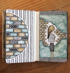 Moleskine 02, #064 Rebecca Blair art #sketching #patterns
