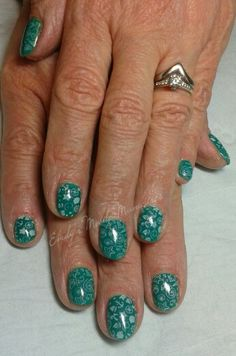 CND Shellac Art Basil with Moyou stamping