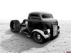 Mid-Engine Modified 1947 Ford COE Build Hot Rod Trucks, Cool Trucks, Big Trucks, Chevy Trucks, Pickup Trucks, Antique Trucks, Vintage Trucks, Custom Trucks, Custom Cars