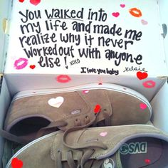Valentine Gift Ideas for Boyfriend - Luv'd Up Sneakers - Click Pic for 40 DIY Valentine Gift Ideas for Husband