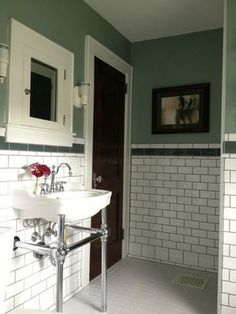 Black Subway Tile Bathroom I Like It But You Will Never Go For It - Old house bathroom remodel ideas