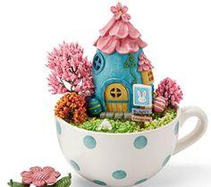 Easter Miniature Teacup Scene