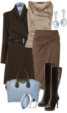 """The touch of blue adds a nice touch - """"Без названия #226"""" by sagramora ❤ liked on Polyvore"""
