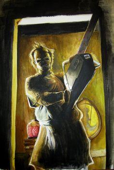 Chainsaw Eddie, Akryylimaalaus vuodelta 2006.