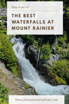 These waterfalls at Mount Rainier are very low effort and high pay off! Make the most of a short itinierary at Mount Rainier and see 6 easy to find waterfalls.  See the most iconic waterfalls in mount rainier national park West Coast Road Trip, Road Trip Usa, Beautiful Places To Visit, Cool Places To Visit, Mount Rainier National Park, National Parks Usa, Usa Travel, Nature Inspired, Waterfalls
