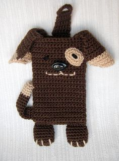 (4) имя: 'вязание крючком : коричневые собаки для iPhone 5 и 4 уютная, крышка