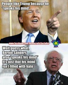 Bernie - the better man.