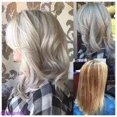 Before and after!  Malibu C Crystal gel treatments and Olaplex made this possible!