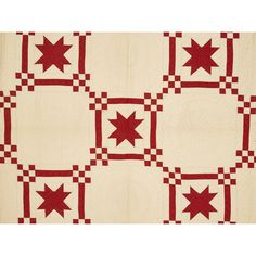 "Pieced eight-point star quilt, ca. 1900, 84"" x 82"". Provenance: The Dianne Goldman Collection of Americana and Folk Art, Fairfield, Connecticut...."