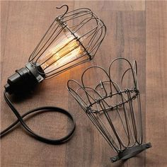 Industrial Wire Bulb Cage