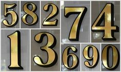 Gold Leaf Fanlight / Transom House Numbers for Victorian Front Door Fanlights | eBay