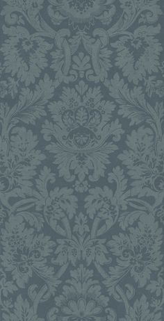 Versailles Blue (ZCDW04010) - Zoffany Wallpapers - A beautiful, timeless design of a grand damask in a deep royal-blue and denim blue. Evoke opulence and elegance with this large-scale pattern repeat of 101.8cm. Additional colourways also available. Please request sample for true colour match.