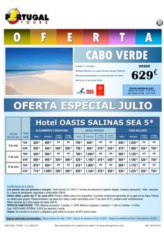 Cabo Verde Rebajado I. Sal Oasis Salinas Sea 5*(8d/7n) 8-22jul salida martes directo MAD desde 629 € ultimo minuto - http://zocotours.com/cabo-verde-rebajado-i-sal-oasis-salinas-sea-58d7n-8-22jul-salida-martes-directo-mad-desde-629-e-ultimo-minuto/