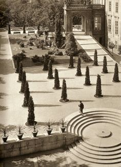 Prague Castle Gardens by Josef Sudek, ca. 1930.