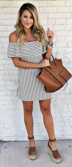fashion trends outfit dress + bag. Love these shoes.