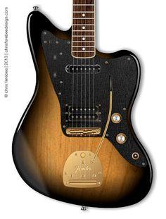modified Fender Jazzmaster Hybrid Deluxe, Tobaccoburst | Chris Ferebee, 2013 @fenderguitars