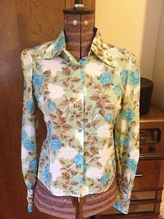 retro floral shirt £18 *SOLD*