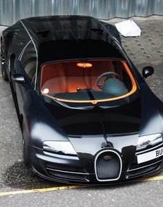 Bugatti Veyron Sang Noir--love the color of the interior