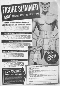 Men's Figure Slimmer!  Wonder how popular this was with the men?!! #ad #vintage