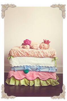 Princess n pea newborn photo idea