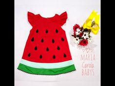 Julia, Baby Girl Dresses, Crossfit, Summer Dresses, Youtube, Fashion, Dress Template, Watermelon Dress, 4 Years