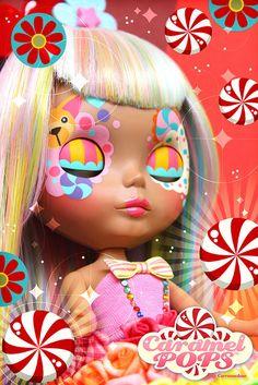 Rainbow Blythe by ♥ Caramelaw ♥ Rainbow Roses, Rainbow Baby, Bjd, Blythe Dolls, Barbie Dolls, Bratz, Japanese Toys, Kawaii, Pop Dolls