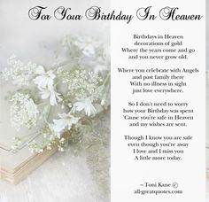Remembering Your Birthday in Heaven | Birthday-In-Heaven-Cards-For-Your-Birthday-In-Heaven.jpg happy birthday Buzzy Harry snell Salt, Poems, Poetry, Salts, Poem