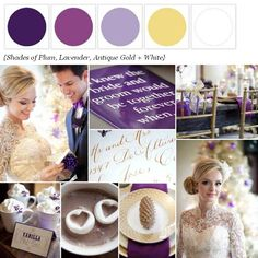 The Perfect Palette: {Wedding Colors I Love}: Shades of Plum!