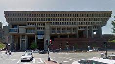 Boston City Hall - 1963-68 - Kallmann McKinnell & Knowles, Campbell, Aldrich & Nulty - #architecture #googlestreetview #googlemaps #googlestreet #usa #boston #brutalism #modernism