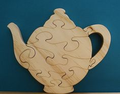 Tea Kettle Wood Puzzle Cut On Scroll Saw by DukesScrollSaw on Etsy