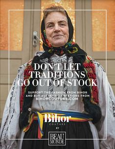 To fight cultural appropriation, Beau Monde magazine launches Bihor Couture fashion line and comes after Dior with local authentic products from Romania. Fashion Line, Fashion Brand, New Fashion, Appropriation Culturelle, Advertising, Ads, Little Black Books, Copywriting, Magazine